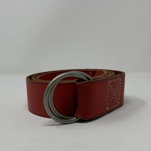 Timberland Double Loop Brown Leather Belt 38